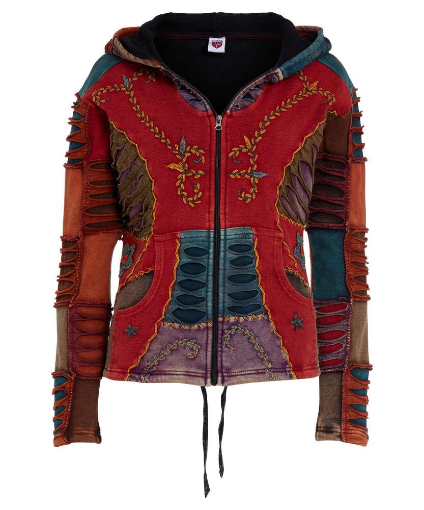 competitive price 5880d f9881 NEPAL Damen Baumwolljacke mit Fleece Innenfutter